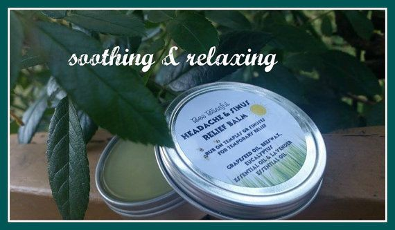 HEADACHE AND SINUS Relief Balm Aromatherapy by BeeBlissfulBeauty
