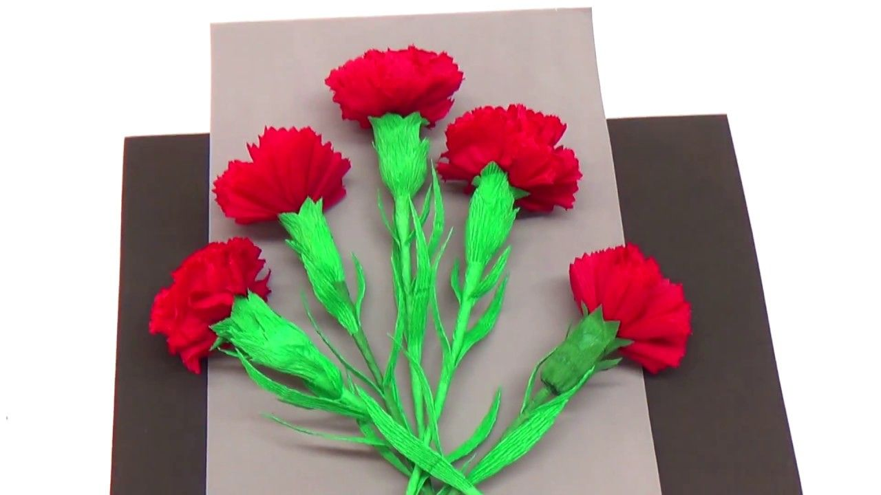 Easy paper flowers making how to make carnation flower crepe paper easy paper flowers making how to make carnation flower crepe paper di mightylinksfo