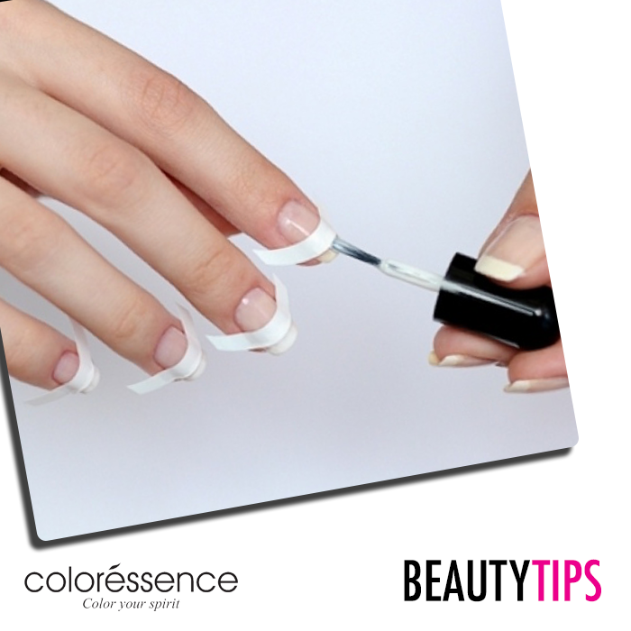 If you use nail stickers like ones for French tips, always make sure ...