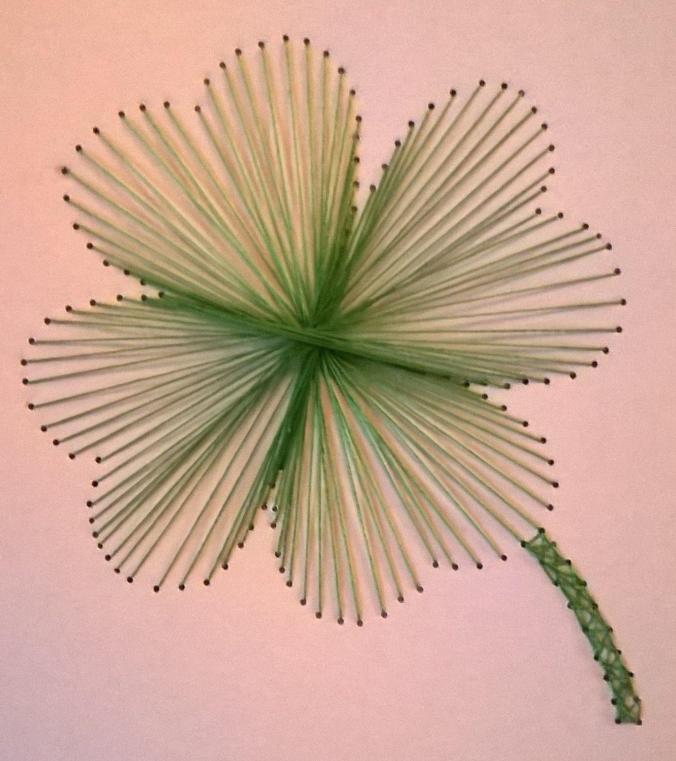 Four leaf clover facebook page michaela 39 s string art for String craft patterns