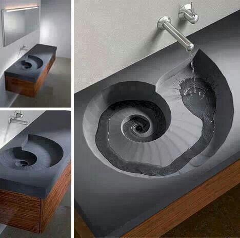 Lavabo en espiral