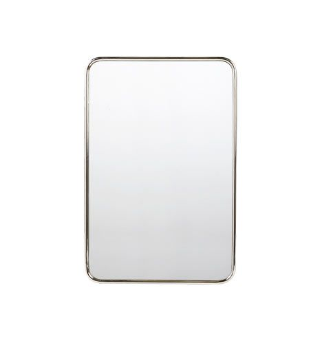 20 X 30 Rounded Rectangle Metal Framed Mirror Hegeman Guest Bath