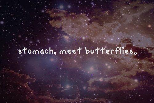 Stomach meet butterflies
