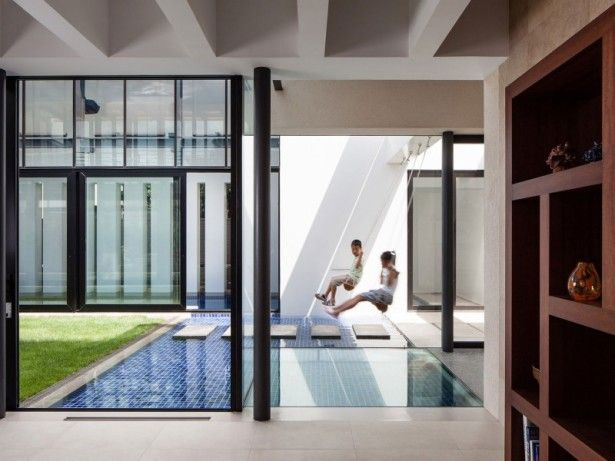 Elegant Children Swing As Playing Kids Area Above The Pool: Best Modern Japanese  Home Design
