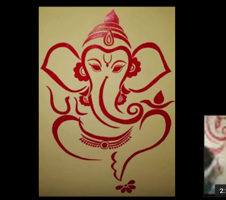 Ganesha Wall Painting Art Art Ganesha Painting