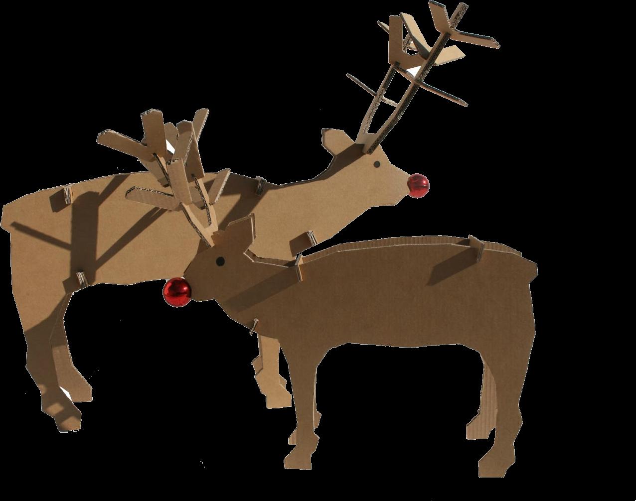 Diy de renos de cart n perfectos para escaparates for Decoracion navidena