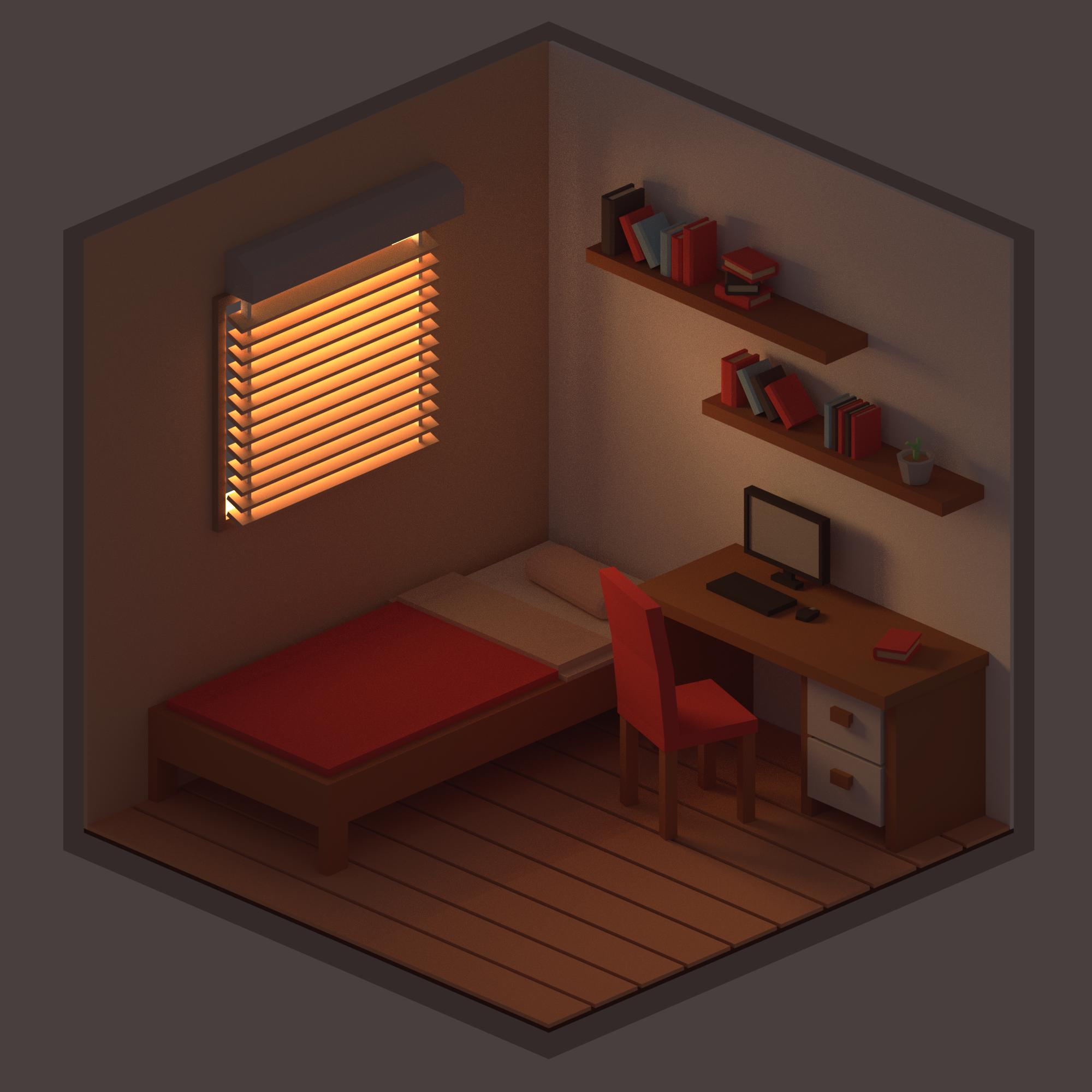 ISOMETRIC BEDROOM in 2019 | Isometric art, Isometric ... on Bedroom Reference  id=79477