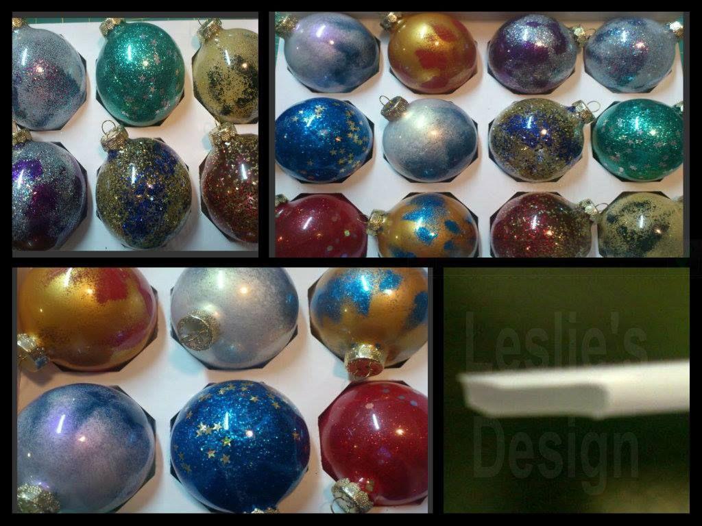 diy christmas ornaments clear glass balls spray glue glitter or embossing powder christmas holidays