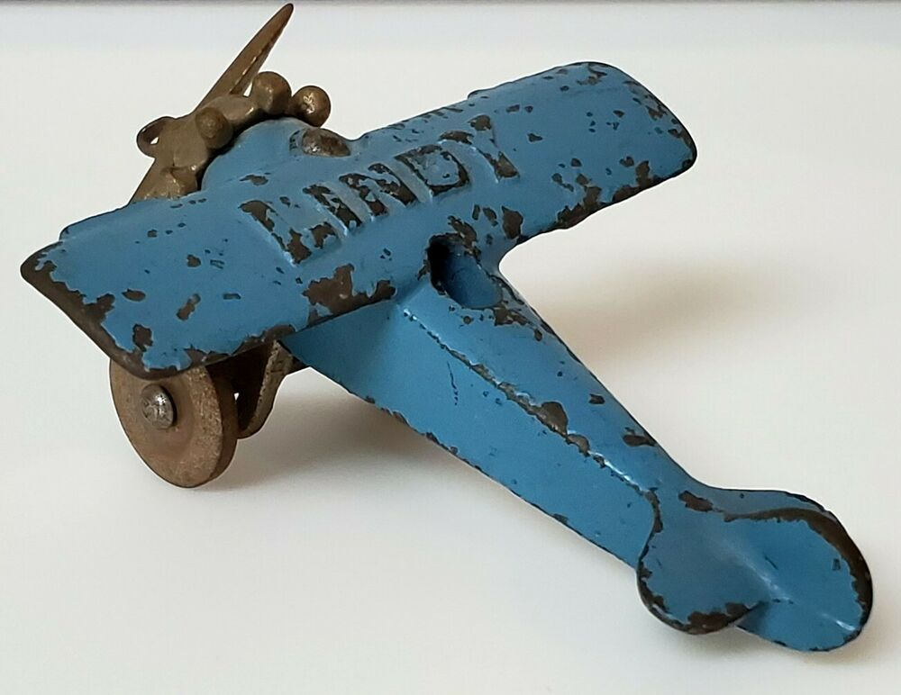 Antique 1930 S Hubley Cast Iron Lindy Toy Airplane Hubley