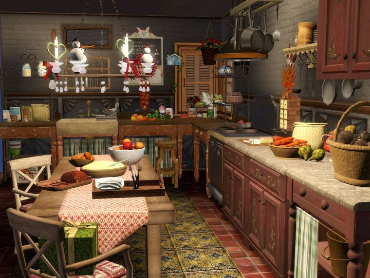 Sims 3 kitchen design by talented GardenBreeze. I love how ...