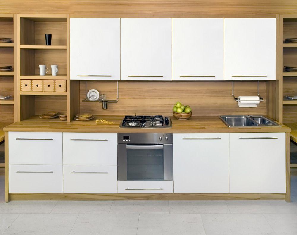 Frameless Kitchen Cabinet Doors Cozinhas De Madeira Branca Cozinhas Modernas Designs De Cozinha