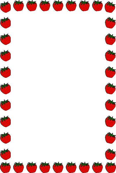 school clip art borders strawberry border clip art