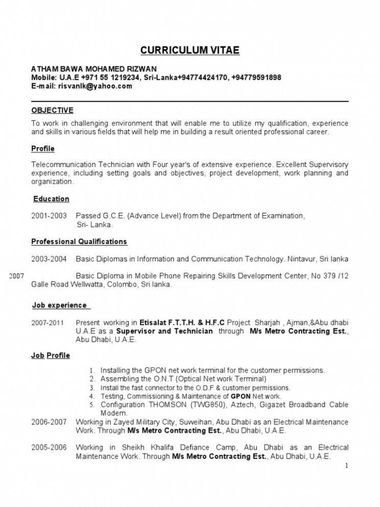 11 optical fibre engineer resume di 2020