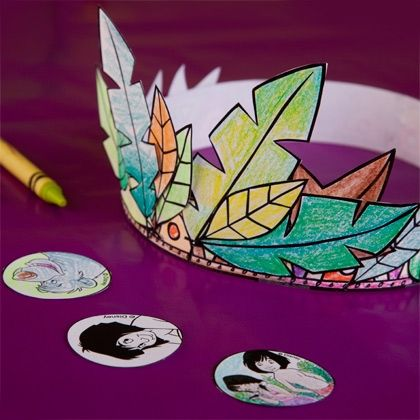 With just some crayons and glue, partygoers can crown themselves King or Queen of the Jungle.