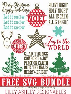 Download Free Christmas SVG Files | Cricut christmas cards ...