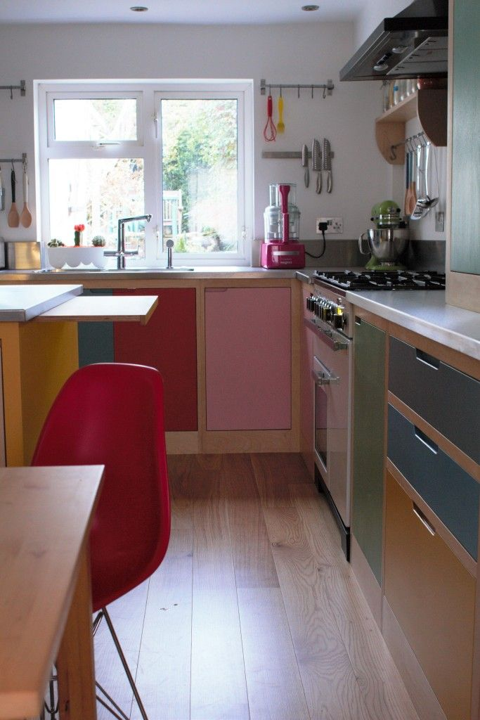Colour by Numbers Kitchen | Plywood kitchen, Plywood and Kitchens