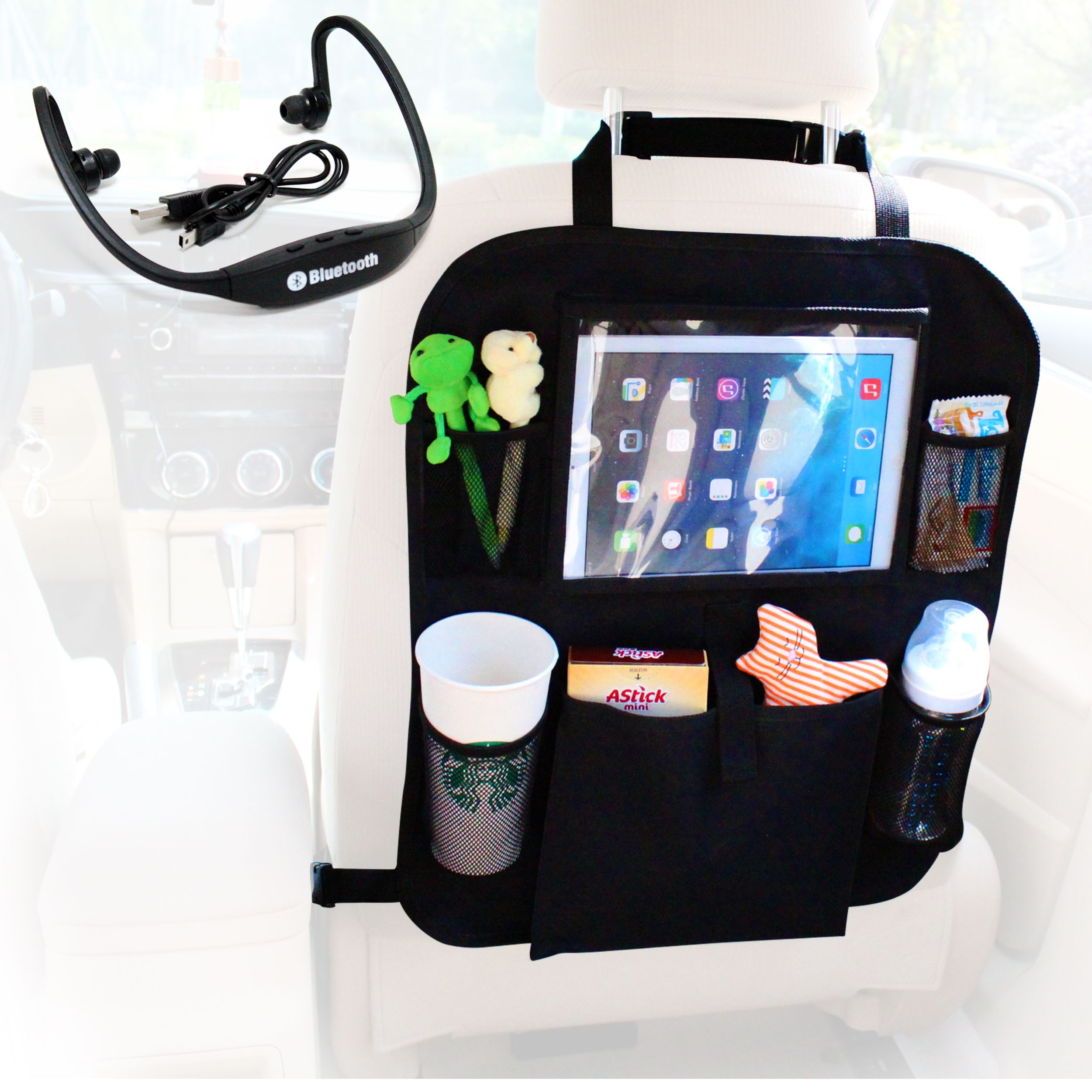 A Favorite I Love Organizer Ideas Cool Must Have Hack For Kids Bluetooth Headset In The Car This Backseat Ipad Comes With Wireless Best Movie Watching