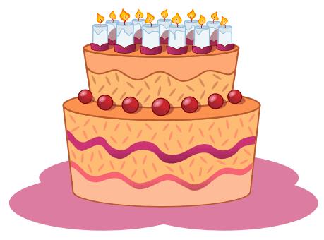 torta de cumpleaños para colorear-dibujo-de-torta ...