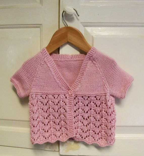 Summer Baby Cardigan Knitting Pattern Instant Download Pattern Pdf