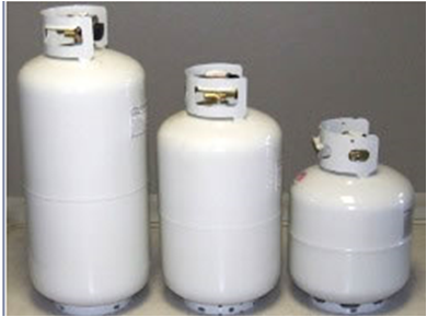 I Wasn T Aware That Propane Tanks Could Come In Different Sizes And Shapes However I Can See How That Could Be Help Gas Grills On Sale Propane Propane Tank