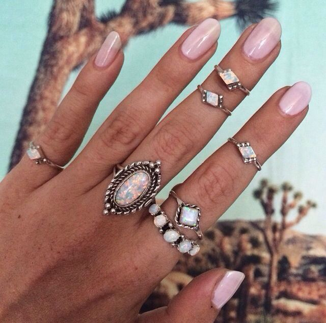 Cosmic Love Opal Ring | Navajo, Sapphire earrings and Pastel pink