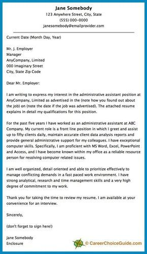 Administrative Assistant Cover Letter Samples Here Is A Cover Letter Sample To Give You Some Ideas And Inspiration .