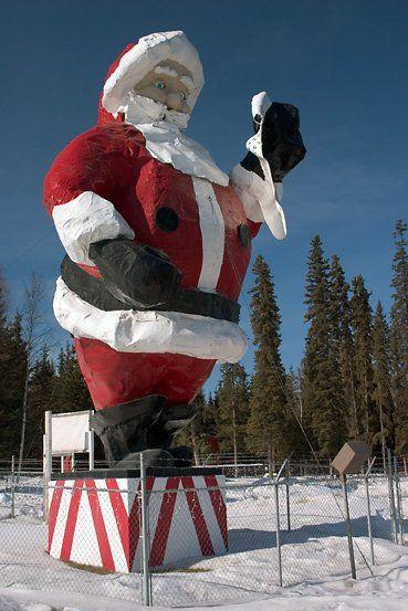 santa claus house and statue north pole ak - Santa At The North Pole