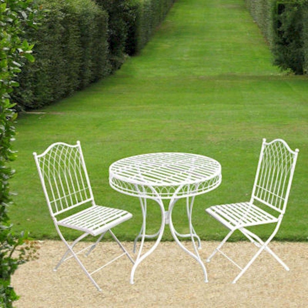 Steel Shabby Chic Garden Bench Blue or Cream Bench Garden Furniture Garden Chair