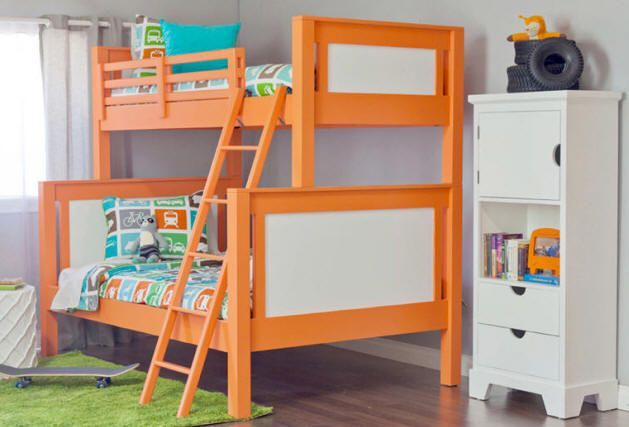 Modernist Twin over Full Bunk Bed Special Spaces - Rose Room