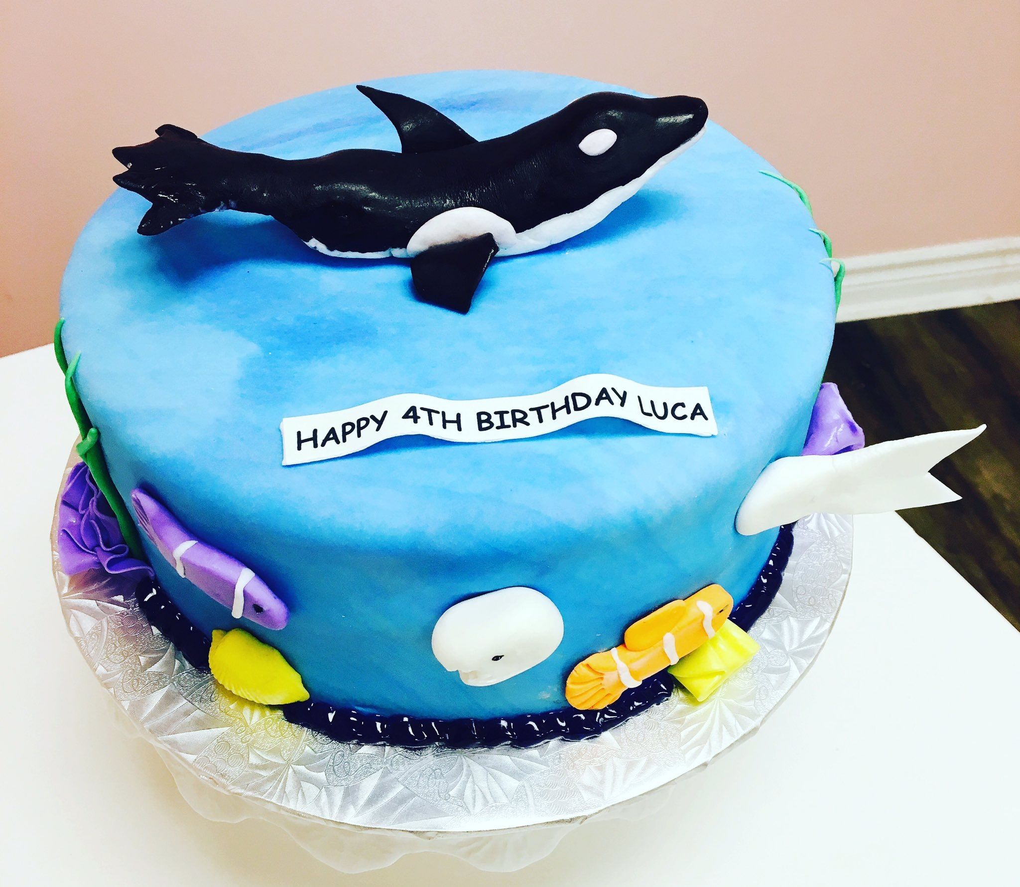 Whale Themed Birthday Cake #DvasCakes #cambridge | Custom Cakes ...
