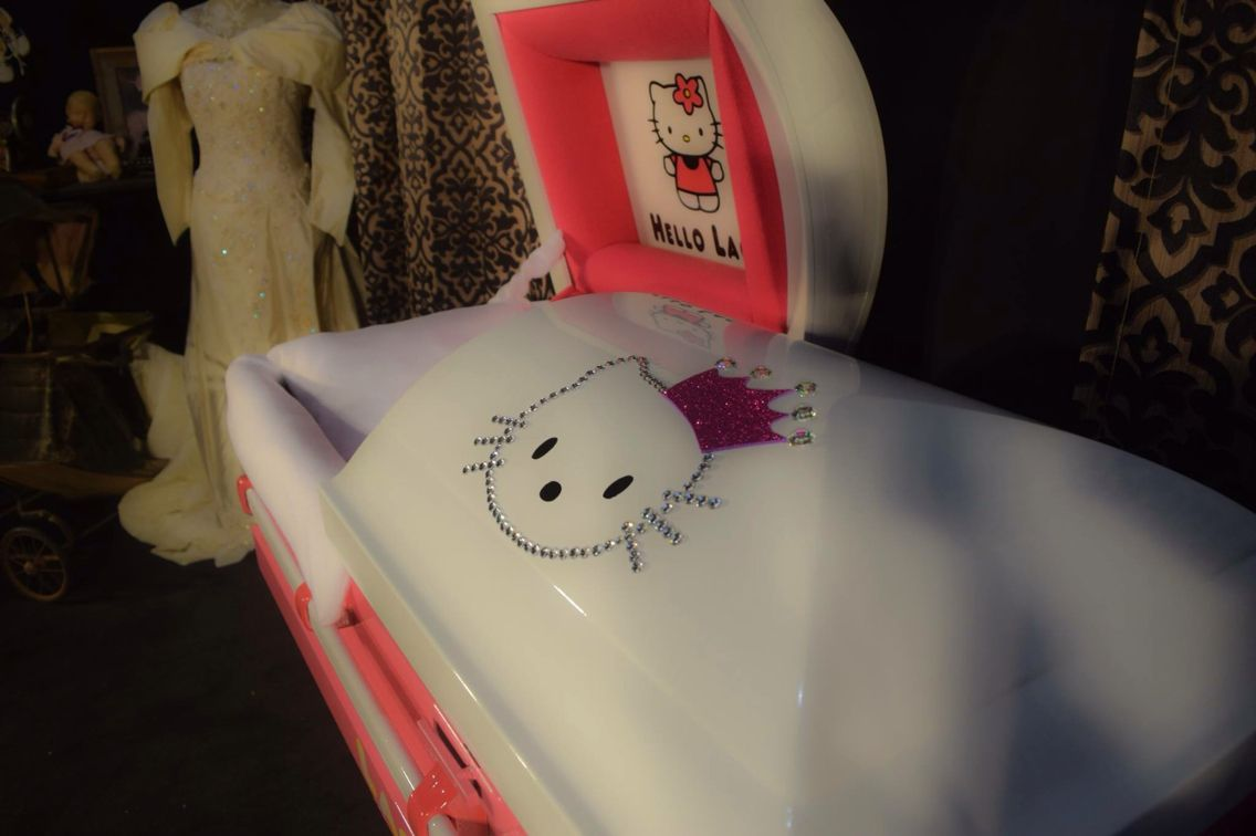 Trey Ganem Designs Sparkle Kitty Design Kids Custom Casket Designs