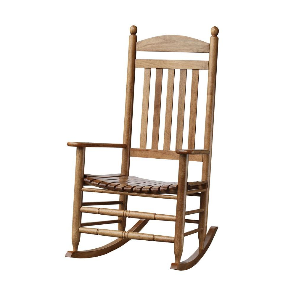 Unbranded Bradley Maple Slat Patio Rocking Chair 200sm Rta The Home Depot Patio Rocking Chairs Outdoor Wicker Rocking Chairs Rocking Chair
