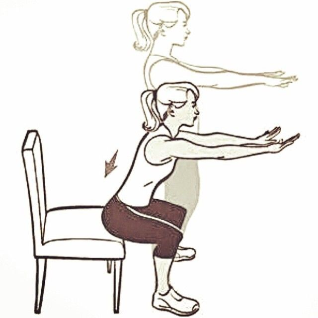 Official Page Of Squats On Instagram The Chair Squat Is A Great Way To Learn Proper Form While Having Some Support Th Workout Moves Easy Workouts Exercise