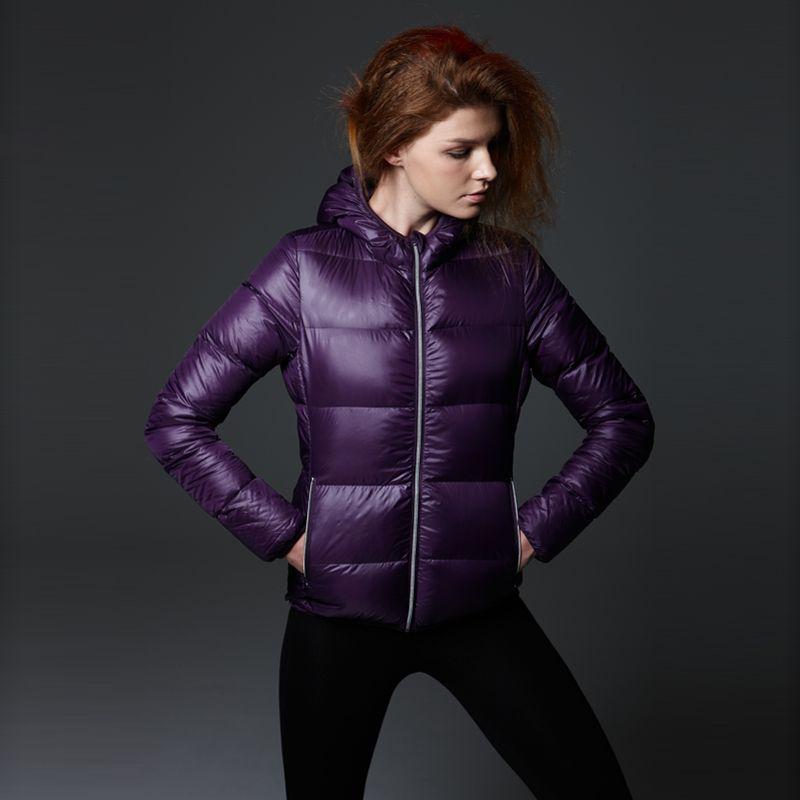 VANCL VD500 Lightweight Hooded Down Jacket (Women's) Purple SKU ...