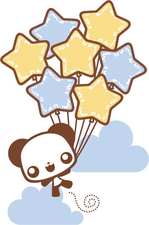 Panda With Balloons