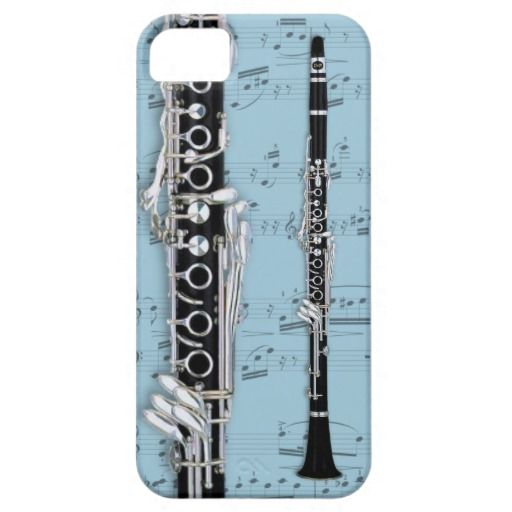 Clarinet & sheet music phone case. Pick color Case-Mate ...