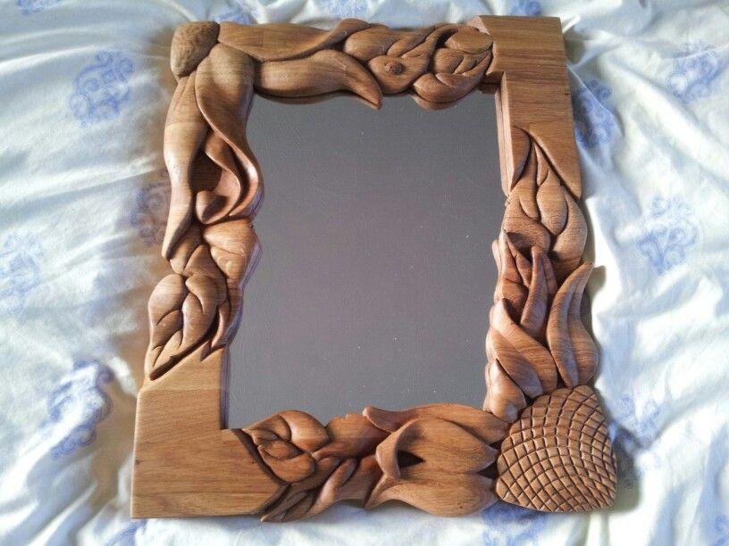 Sunflower mirror   relojes tallados en madera   Pinterest   Elmar ...