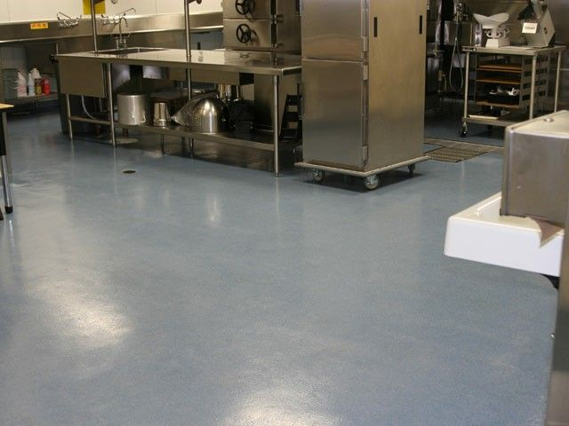 Commercial kitchen floors take a beating so they need to be durable ...