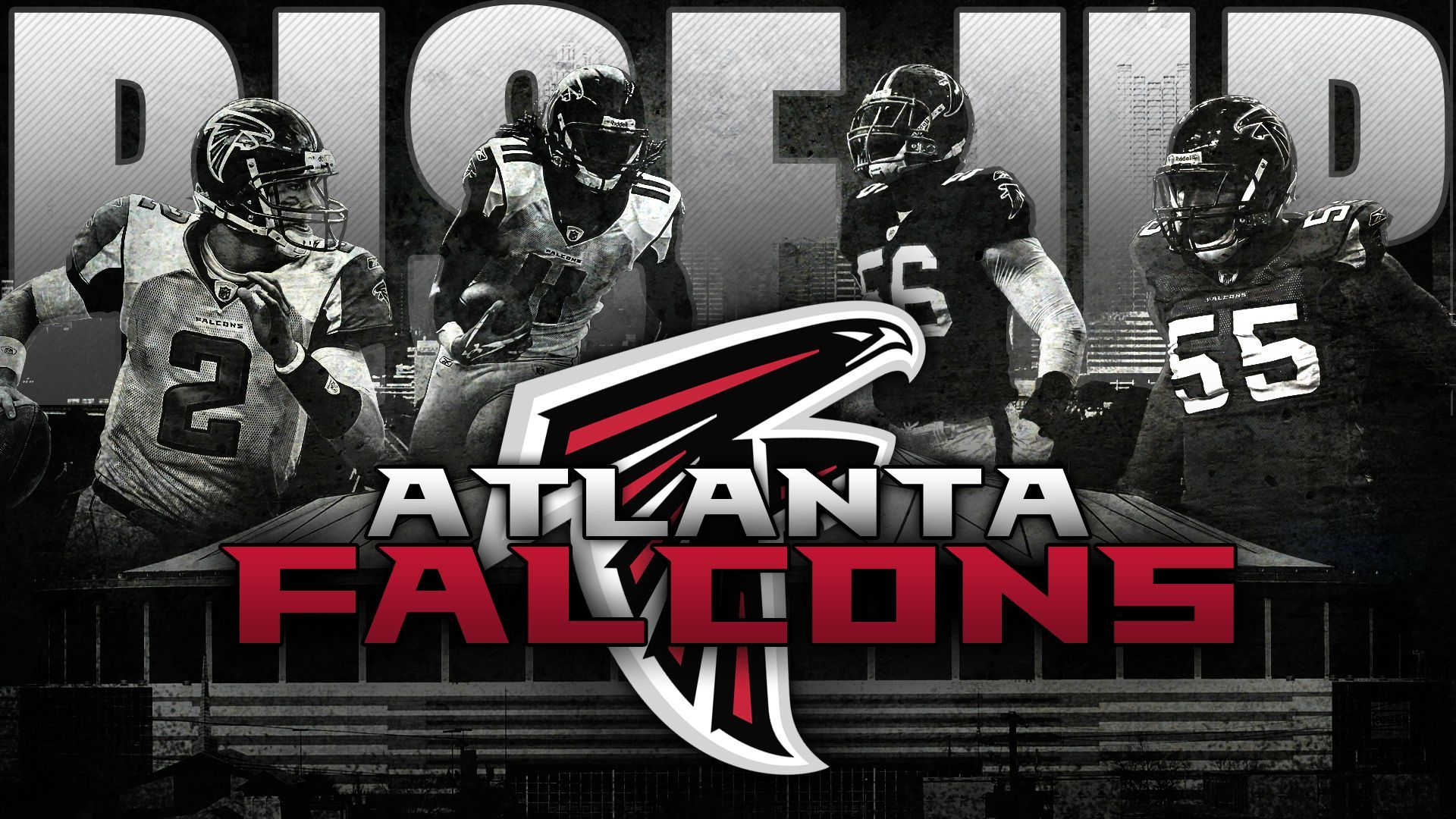 Rise Up Falcons Wallpaper I Made For The Playoffs Imgur Atlanta Falcons Wallpaper Atlanta Falcons Rise Up Falcons Rise Up