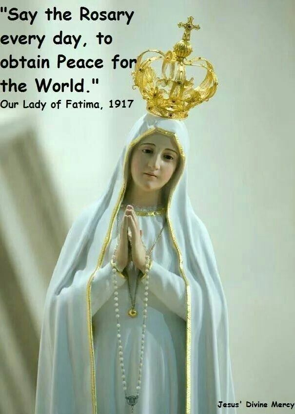 Pray The Rosey With Images Mother Mary Images Blessed Mother