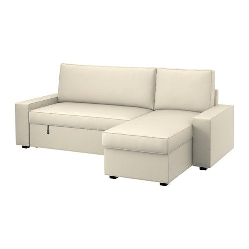 VILASUND / MARIEBY Sofa Bed With Chaise Longue   Ramna Beige   IKEA