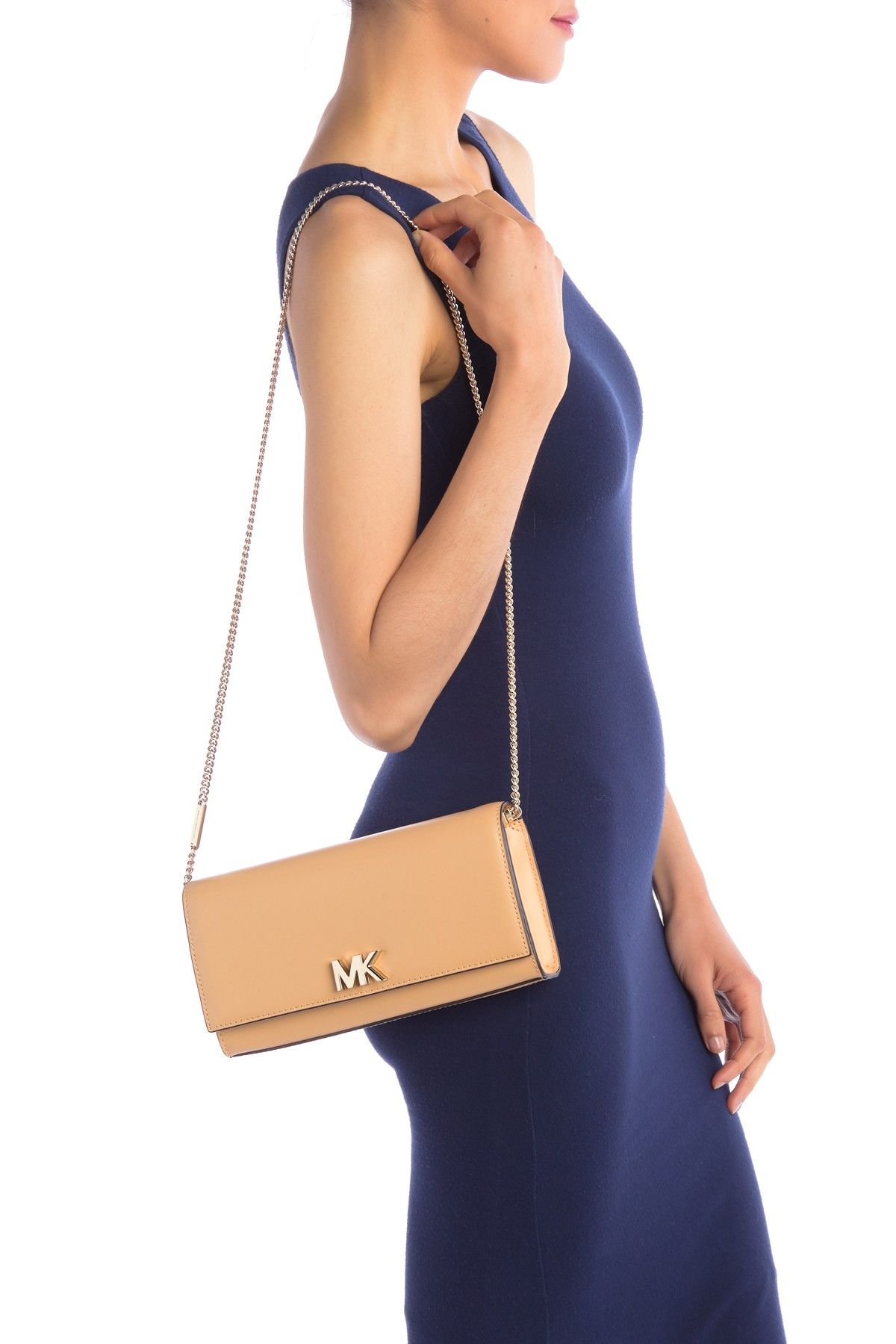 d94f41a9c000 MICHAEL Michael Kors - Mott Large Leather Clutch Crossbody is now 50% off.  Free Shipping on orders over $100.