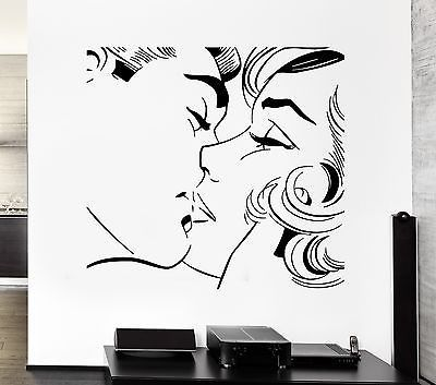 Wall Sticker Kiss Kissing Couple Romantic Love Decor For Pop Art Bedroom Z2577 Pop Art Bedroom Pop Art Decor Love Decor