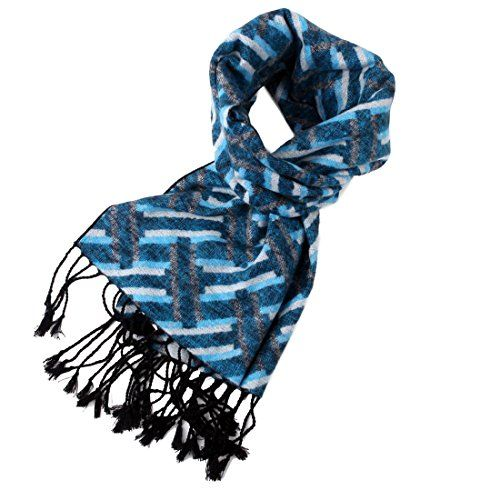 Sc1028 Turquoise Stripes 100 Silk Jacquard Woven Scarf Gift Husband By Yg See This Great Product Woven Scarves Scarves For Cancer Patients Scarf