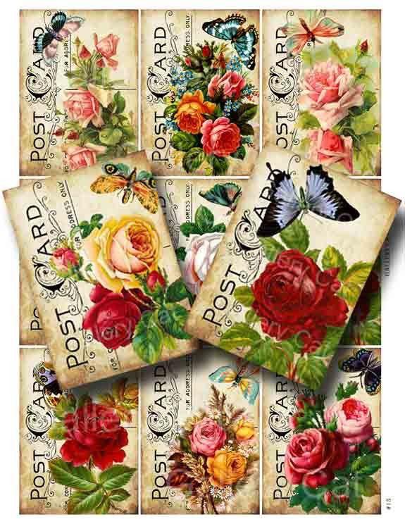 Victorianos rosas con mariposa en descarga instantánea del hoja antigua postal Collage Digital papel Manualidades etiquetas arte proyectos GalleryCat CS13 de GalleryCat en Etsy https://www.etsy.com/es/listing/66659268/victorianos-rosas-con-mariposa-en