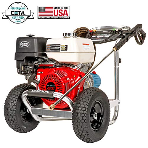SIMPSON Cleaning Aluminum Gas Pressure Washer Powered in