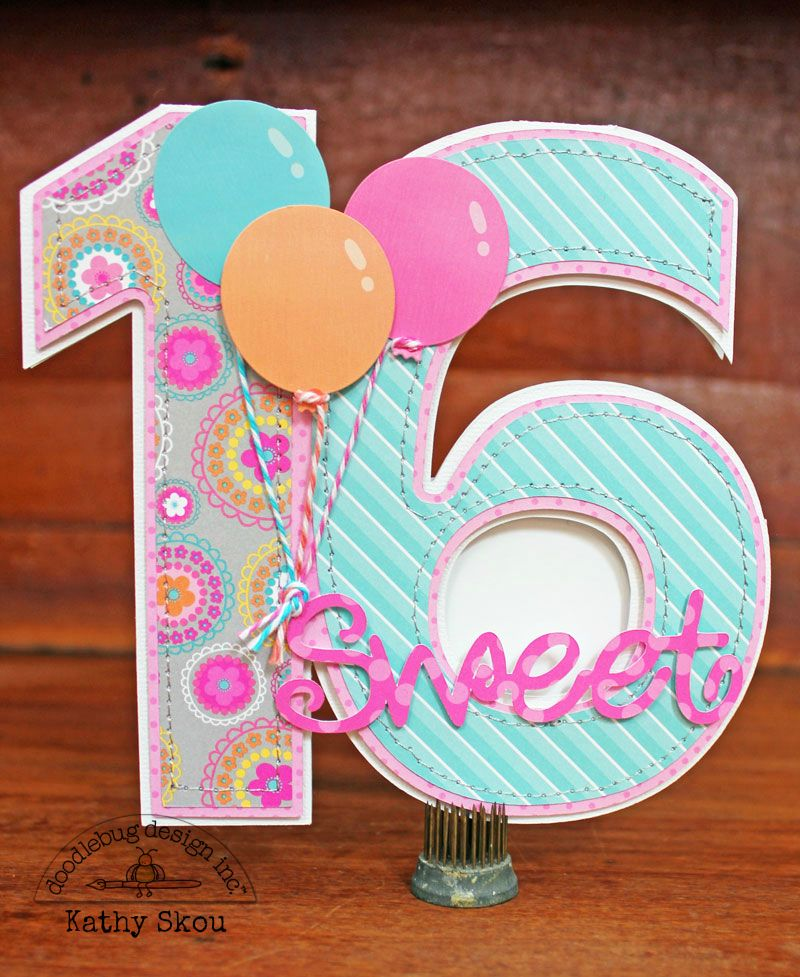 sweet 16 card making ideas