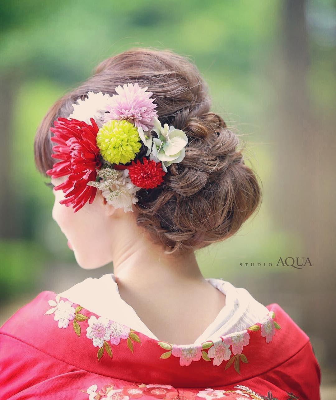 和装 洋髪 白無垢や色打掛に合わせたい和装ヘア特集 Marry マリー 色打掛 髪型 結婚式 和装 髪型 前撮り 髪型