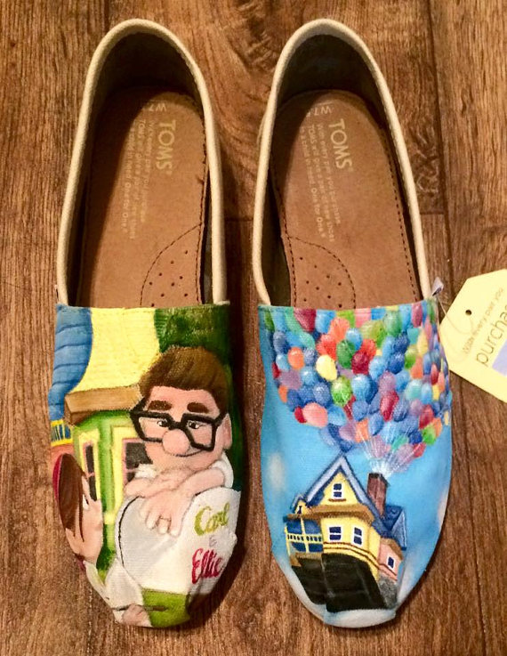 805a0b93 Custom Hand Painted Shoes Disney Pixar Up by FancyFeetArt on Etsy OMG I  WANT THESE!!