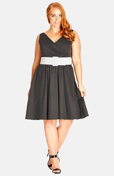 City Chic Sunday Tea Fit Flare Dress Plus Size Available At